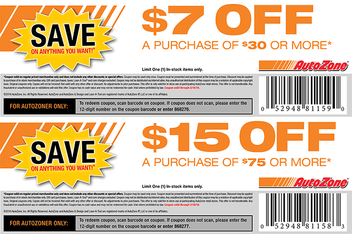 7 Off 30 More At Autozone Shopping Coupons Coupon Apps Coupons