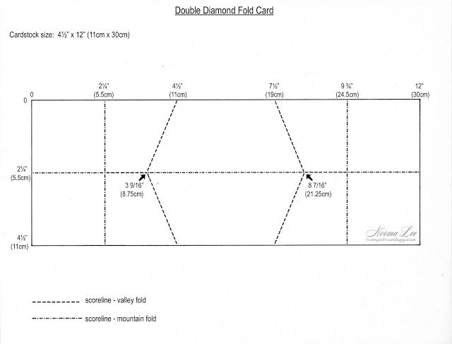 From My Craft Room Double Diamond Fold Card Template Fun Fold Cards Folded Cards Fancy Fold Cards