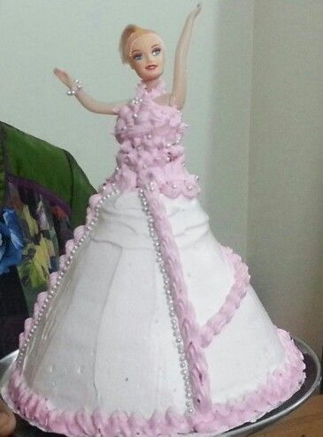 A beautiful barbie cake for my beautiful daughters