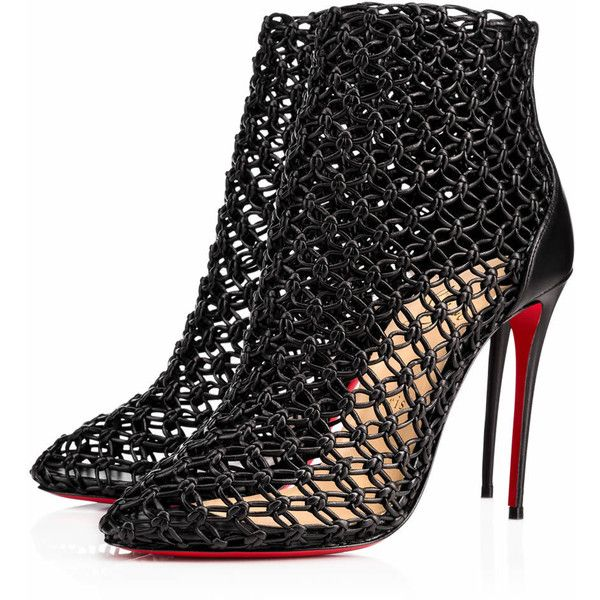 Andaloulou 100 Black Leather - Women Shoes - Christian Louboutin ...