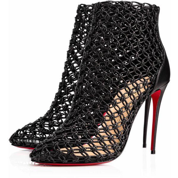 Andaloulou 100 Black Leather - Women Shoes - Christian Louboutin ...
