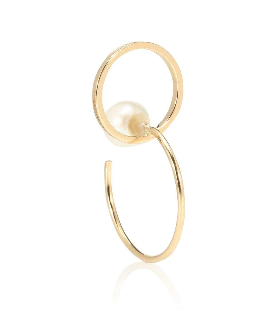Delfina Delettrez Twin 18kt gold triple hoop earring Q9h6n