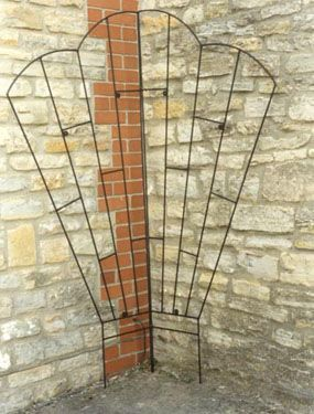Corner Fan Trellis In Wrought Iron Wrought Iron Trellis Wrought