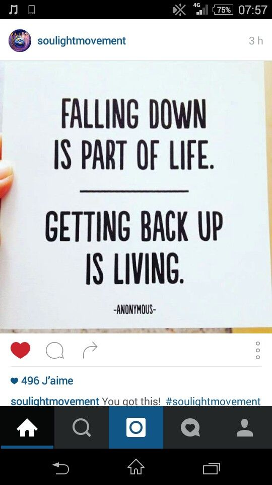 Falling and getting back up