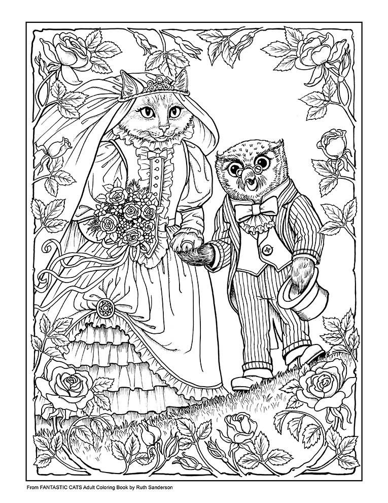 Fantastic Cats 24 Coloring Pages For Adults Instant Pdf Etsy Cat Coloring Book Coloring Books Coloring Pages