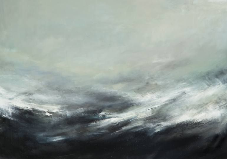 Original Abstract Painting by Xanthippe Tsalimi | Abstract Art on Canvas | The Wave
