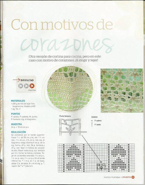 Patrón #612: Cortina a Crochet | CTejidas [Crochet y Dos Agujas ...
