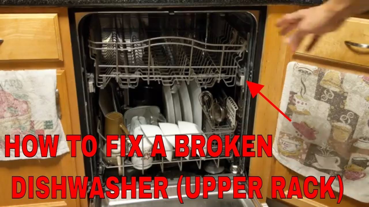 How To Fix The Top Rack On A Dishwasher Kenmore Elite Kenmore