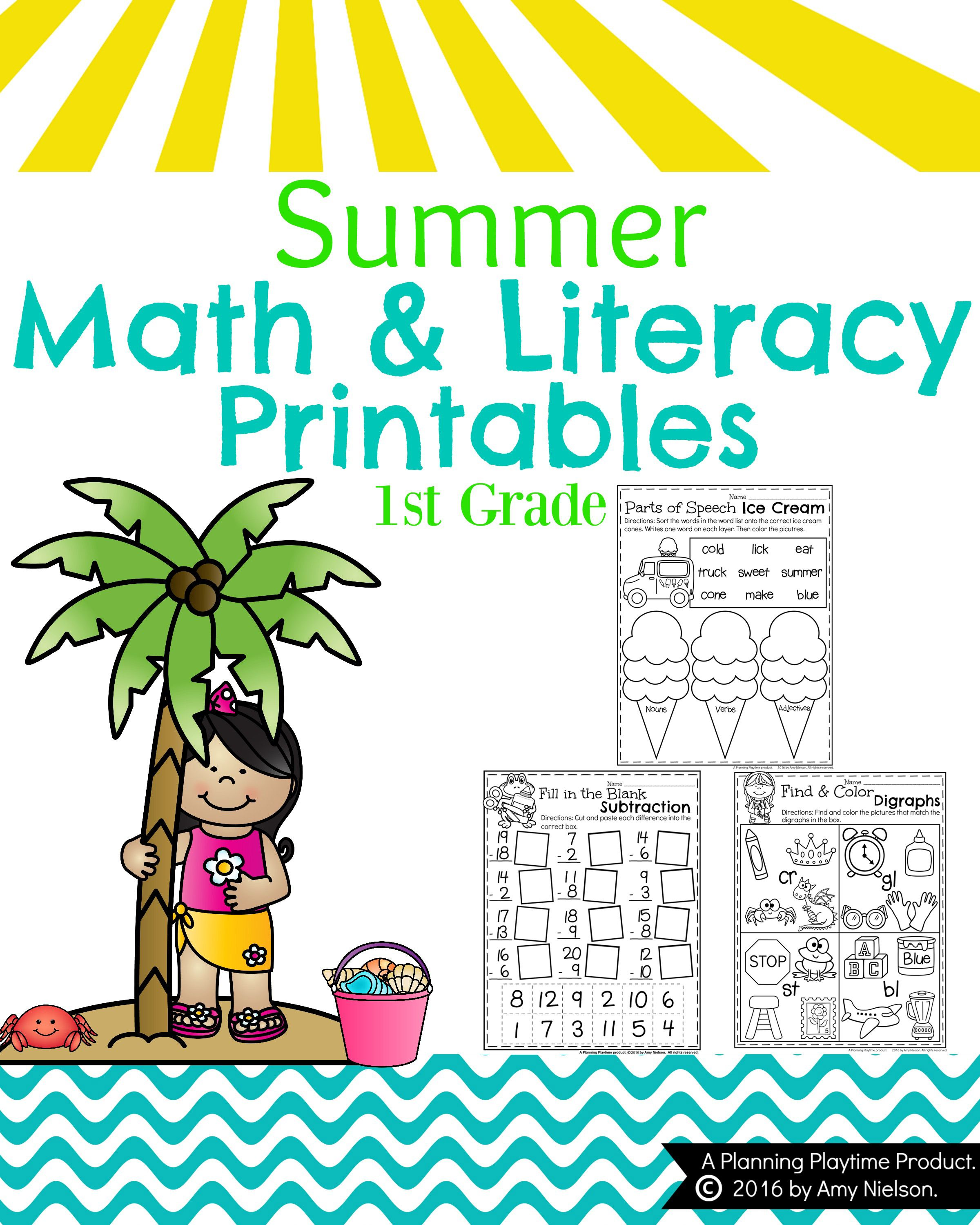 First Grade Summer Worksheets