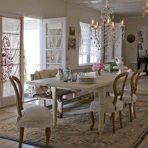Außergewöhnlich Wohnungseinrichtung, Esszimmer, Shabby Chic Interieur, Haus Interieurs,  Shabby Chic Deko, Esszimmer Kronleuchter, Land Französisch, Französischer  Stil, ...