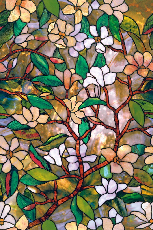 Amazon Com Artscape Magnolia Window Film 24 X 36 Home