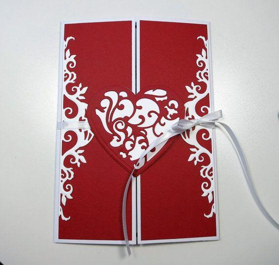 Filigree Heart Gatefold Valentine by AluminumButterfly on Etsy