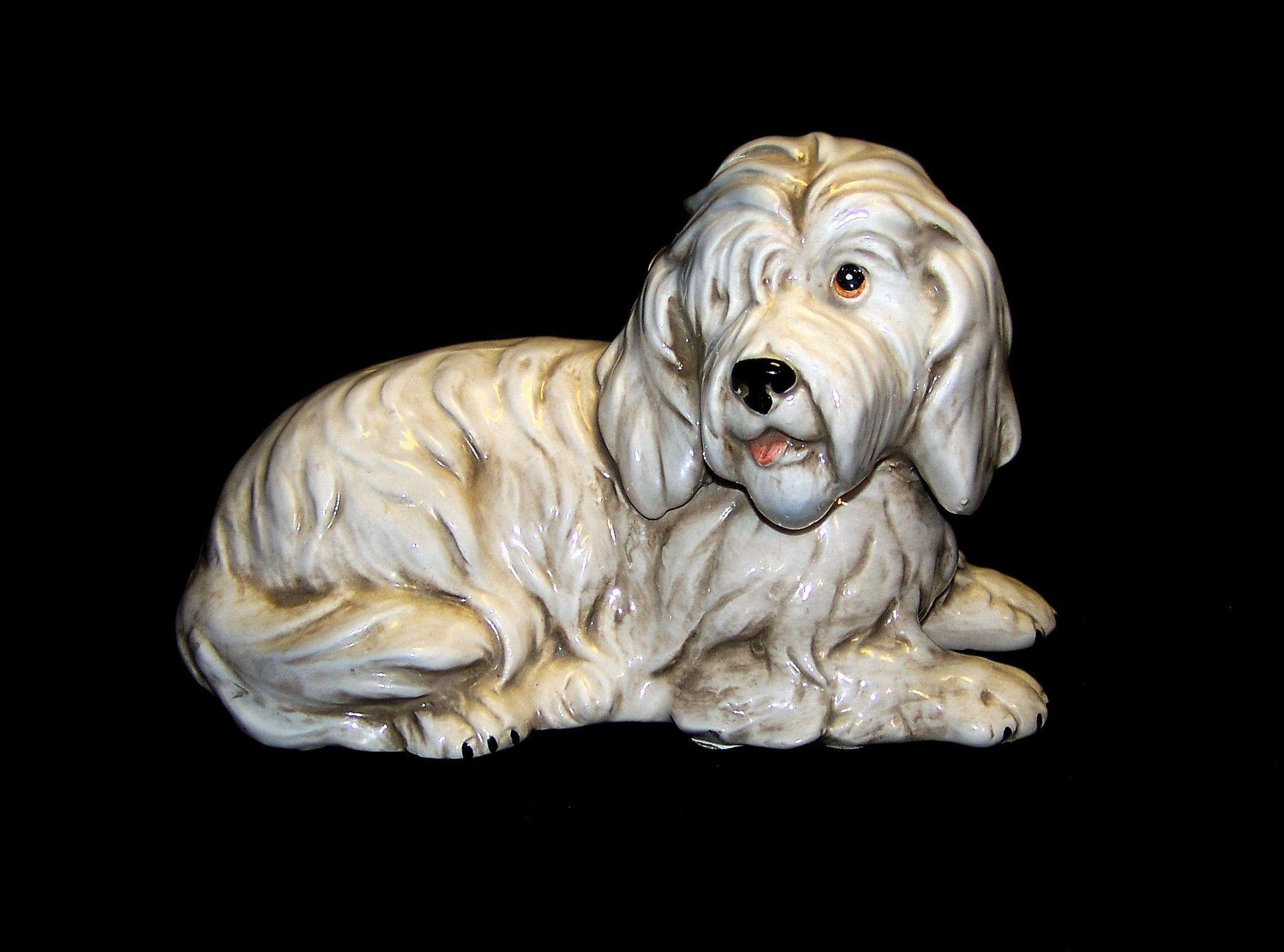 Vintage Shafford Porcelain Old English Sheep Dog