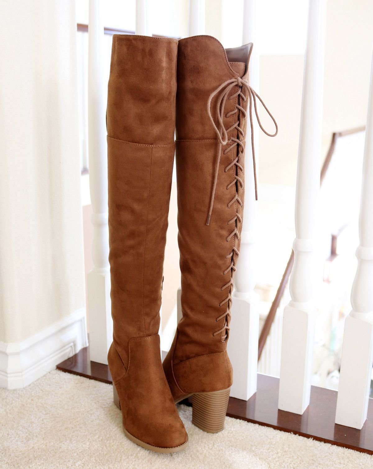 f7d0e764c57 Style   Over The Knee High Boots Heel Height   3 1 4