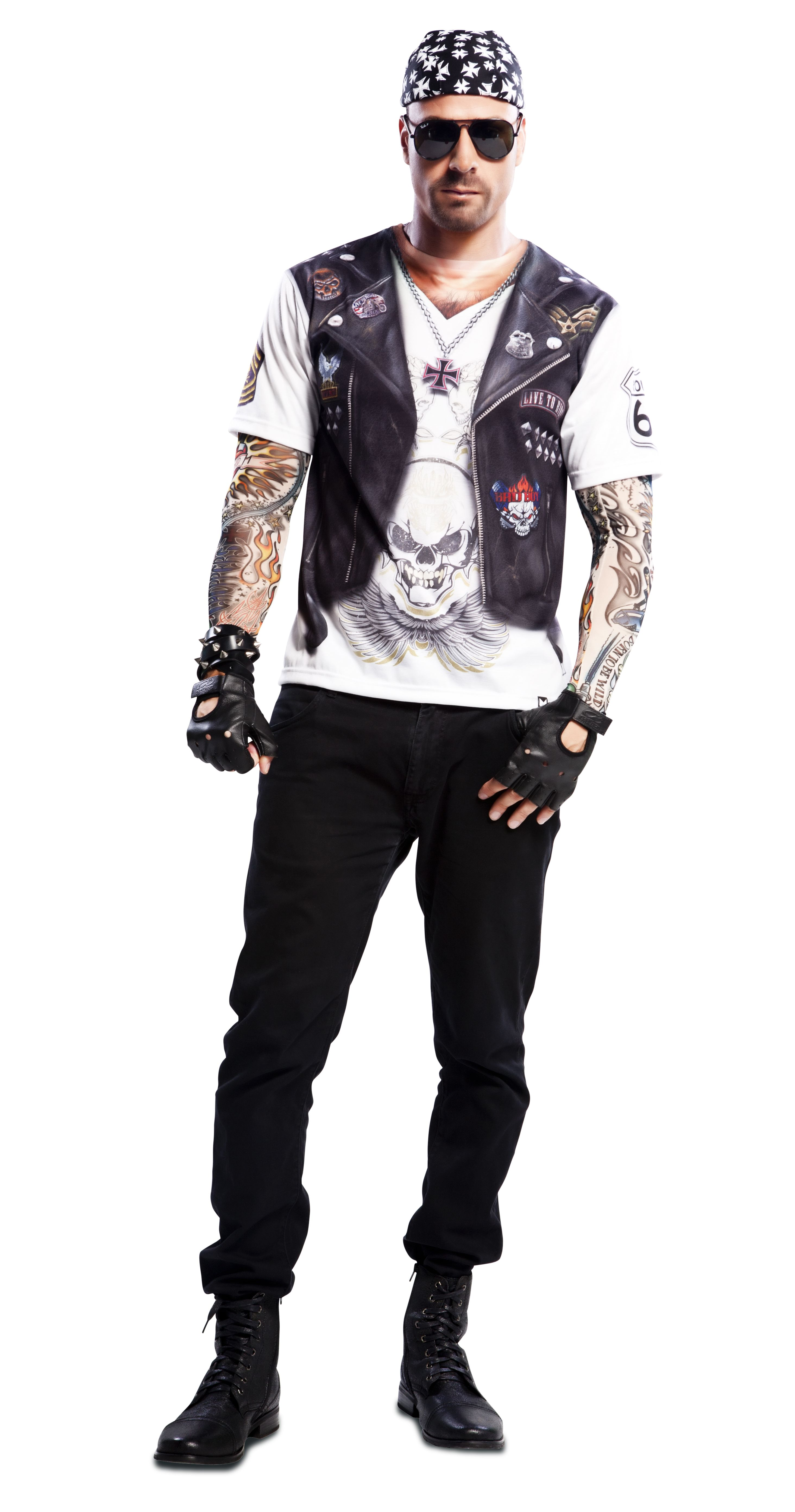 0af8205a79 Disfraz Hell boy.  Original  Costume  Carnaval  Motero  Motor  Camiseta   Original  Divertida  Tattoo