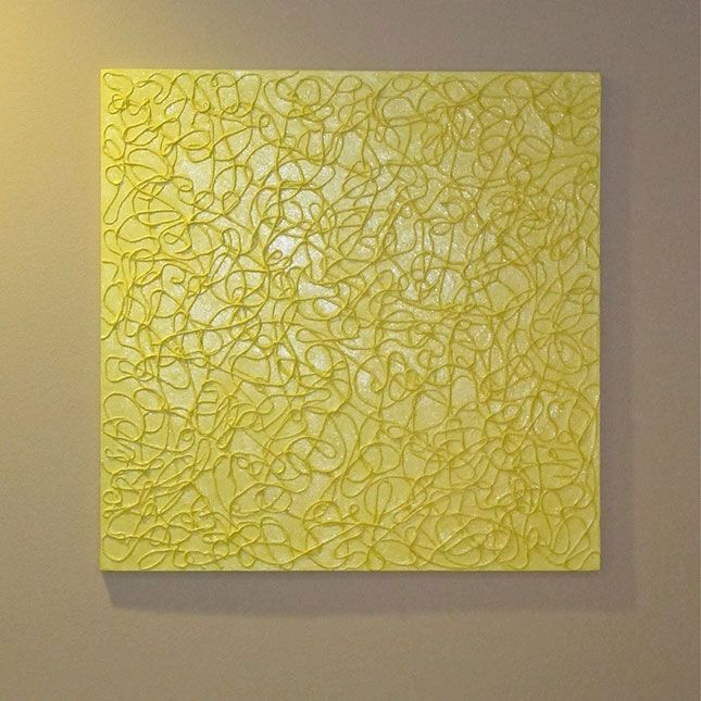 use elmers glue or puff paint Textured Wall Art A new take on