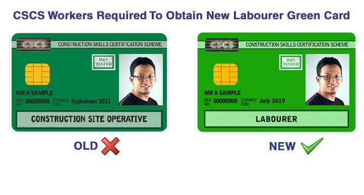 Cscs Training Course Work Skills Green Cards Cards