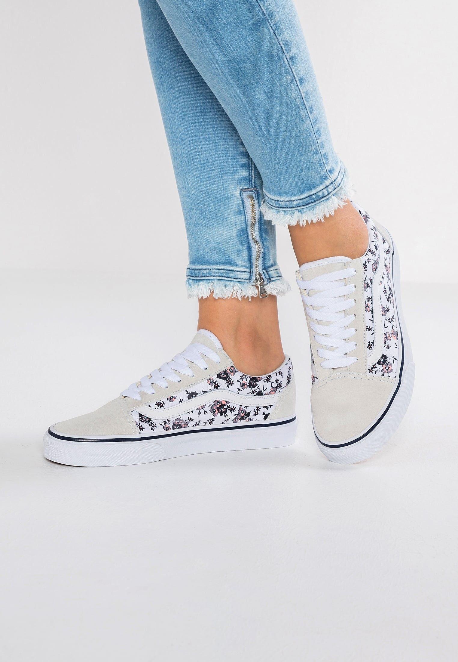 Damen Vans Old Skool Schuhe Low Multicolor Cool Grau Weiss Vans Schuhe Damen Schuhe Damen Schuhe