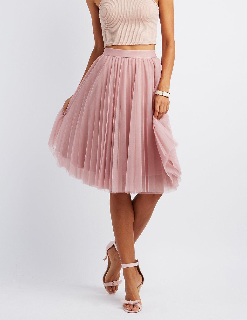 Tulle Full Midi Skirt | Charlotte Russe | My Dream Wardrobe | Pinterest