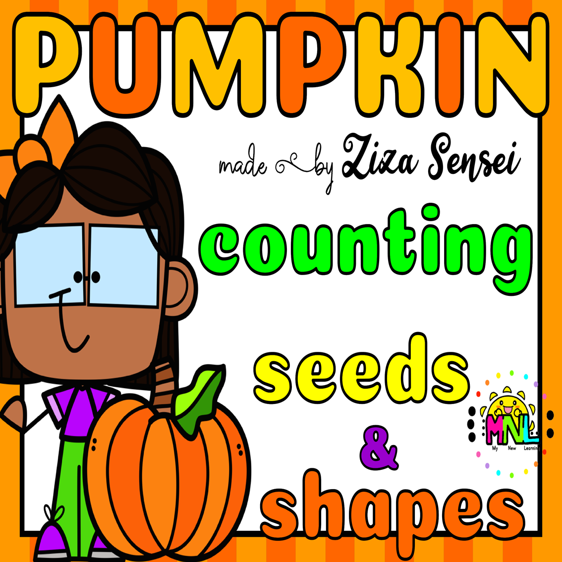 Fall Centers Counting Seeds Pack 0 10 Pumpkin Theme In