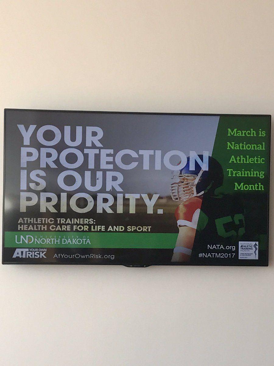 UND Sports Medicine on NATM 2017 Poster Photos Sports