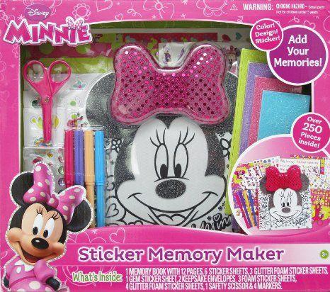 Amazon com: Tara Toy Minnie Mouse Sticker Memory Maker: Toys