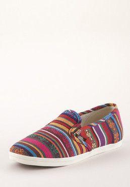 1586efc9c27b09 VANS Slip-On Lo Pro Guate Stripe CA red-multicolored