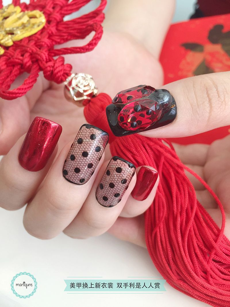 Chinese New Year Nail Art CNY Manicure