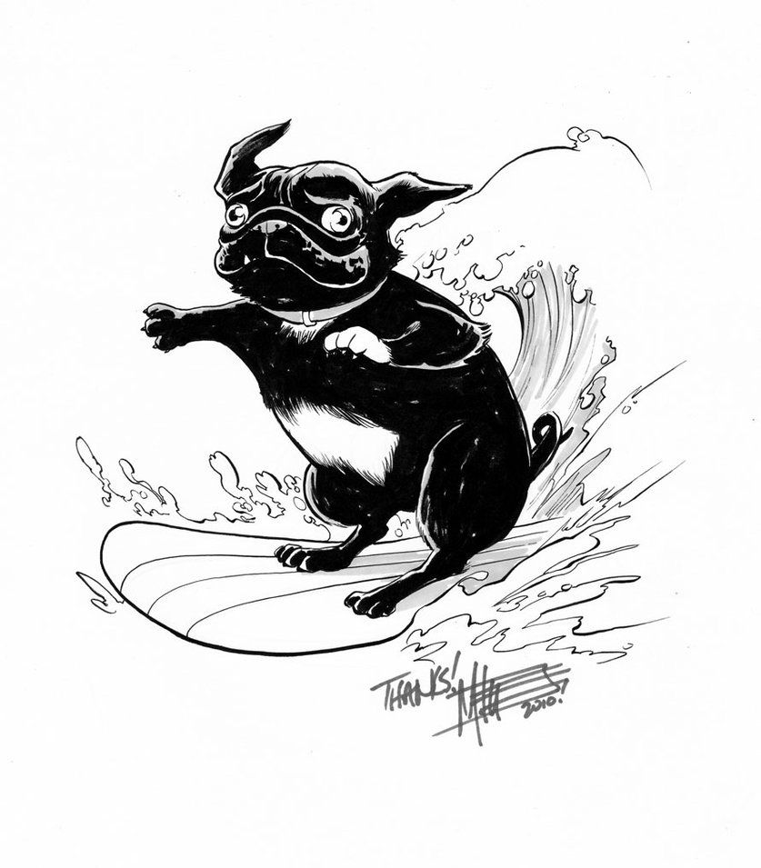 Pug Drawings | Coloring Page Pug | It\'s a pugs life | Pinterest