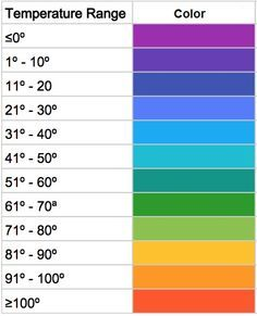 Colors On Weather Map.Image Result For Weather Map Colors Temperature Knit And Crochet