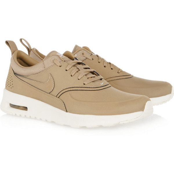 promo code b4e7d 5fe86 Nike Air Max Thea leather sneakers (190 CAD) ❤ liked on Polyvore featuring  shoes, sneakers, leather sneakers, nike sneakers, cushioned shoes, nike  shoes ...