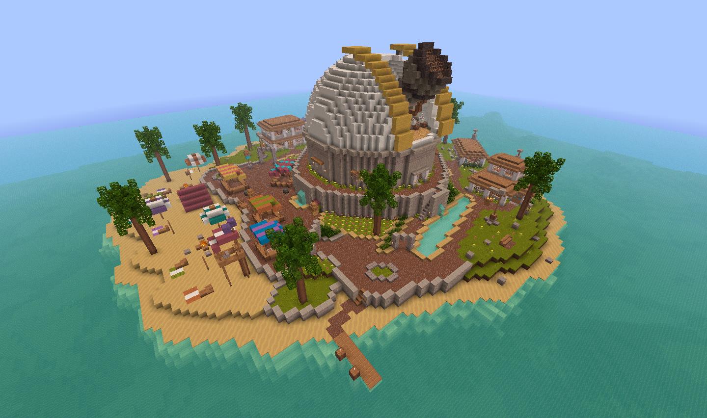 Minecraft Island House