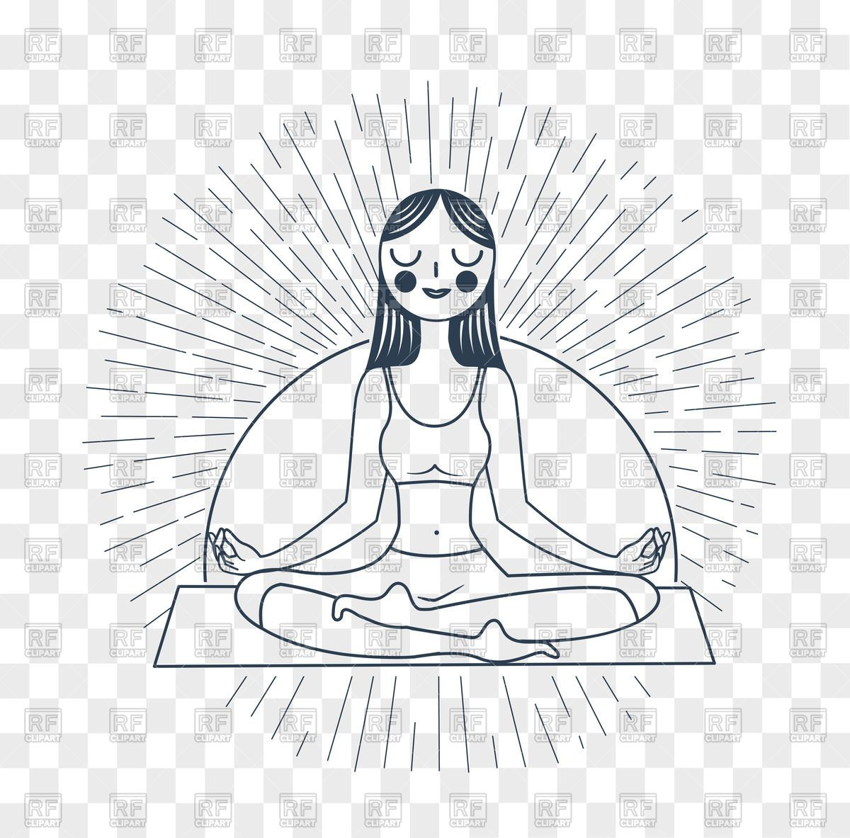 Download Icon Of Meditation Girl In Yoga Lotus Pose Vector Illustration Vector Graphics C Rodnikovay 173622 Yoga Illustration Lotus Pose Lotus Yoga