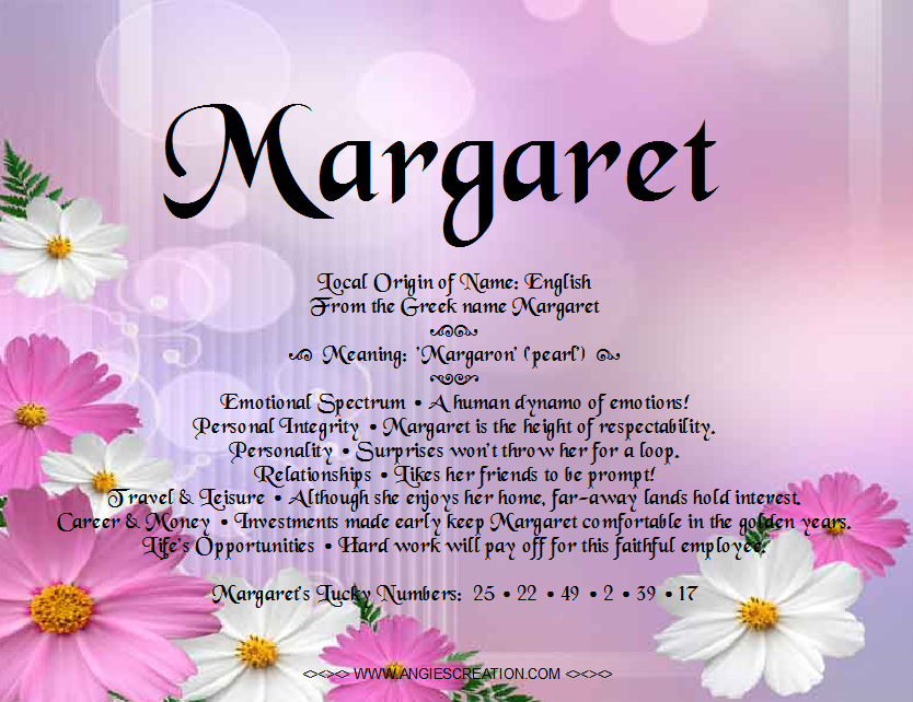 margaret name meaning - Google Search | Fam | Pinterest ... - photo#11