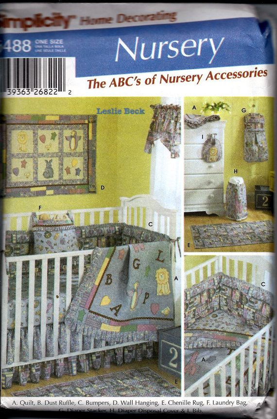 Baby Nursery Sewing Pattern Simplicity 5488 by DawnsDesignBoutique ...