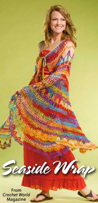 Seaside Wrap from the June 2014 issue of Crochet World Magazine ...