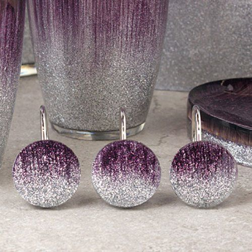 Stardust Purple Bath Collection Shower Curtain Hooks By Annas