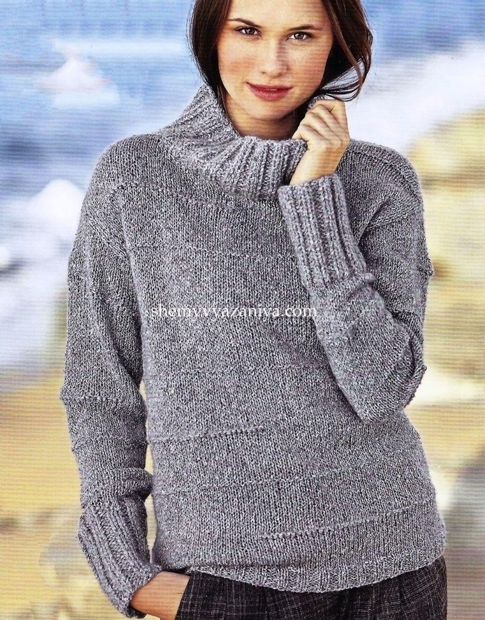 схемы вязания свитеров 2014