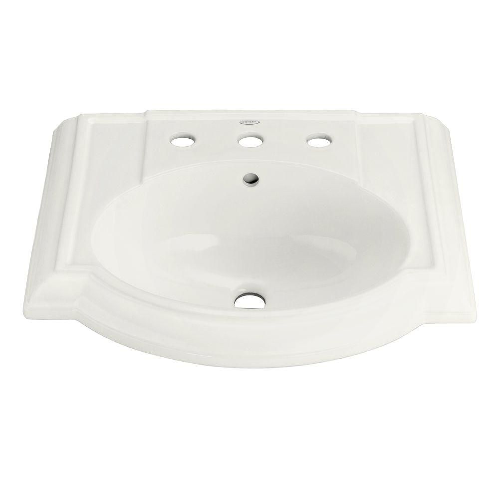 Kohler Devonshire Vitreous China Pedestal Sink Basin In White