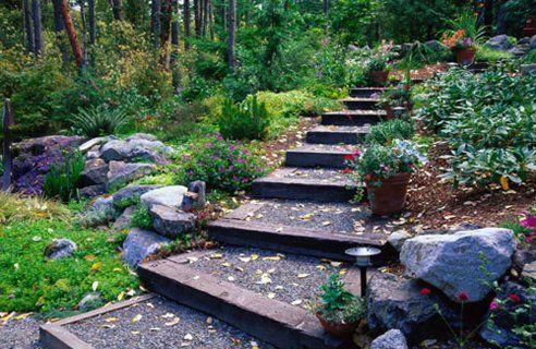 Slope Garden Design Path Home Designs Project Sloped Garden Garden Steps Side Yard Landscaping