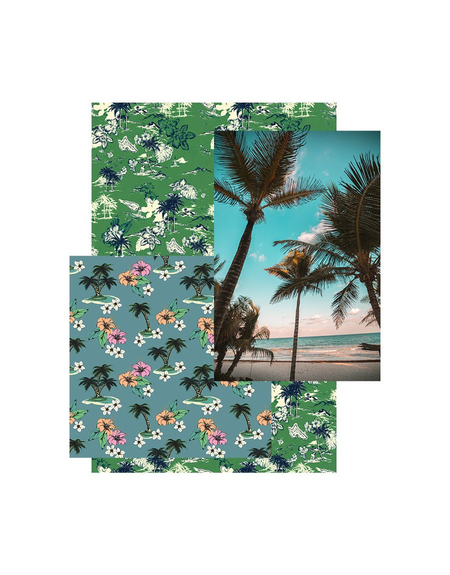 Spring Summer 2021 Print Trend Nostalgic Vacations Patternbank In 2020 Holiday Prints Spring Summer