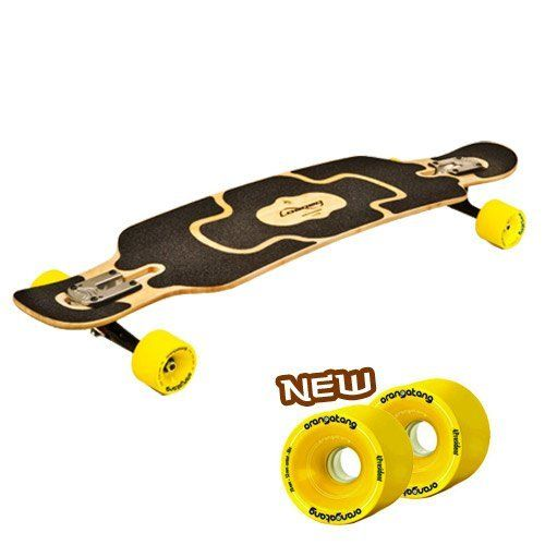 Loaded Tan Tien Complete Longboard Skateboard W/ Yellow 4