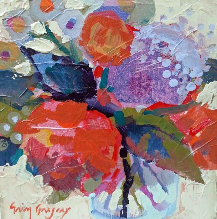 "Erin Gregory, ""Jar Joy 5"", 8x8, at Gregg Irby Fine Art in Atlanta, GA"