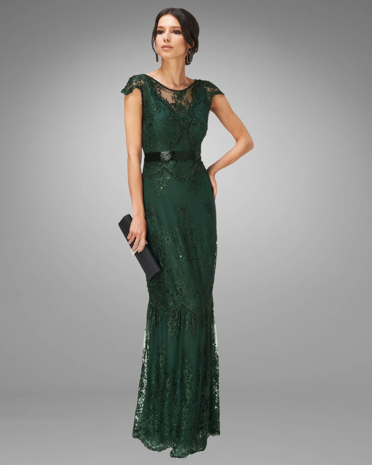 Emerald wedding dress. Could this be any more romantic and graceful ...