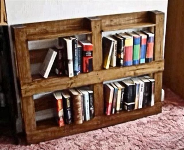 Wooden Pallet Shelves Pallets Bookshelves Wood Bookshelf Ideas