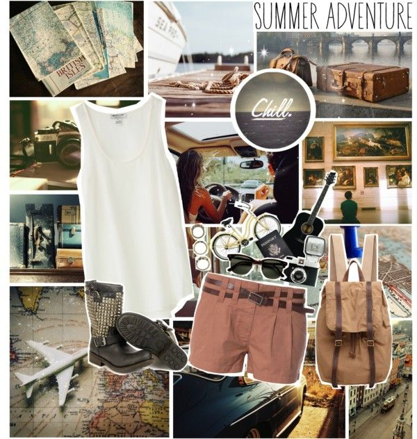 """summer adventure"" by myduza-and-koteczka on Polyvore"
