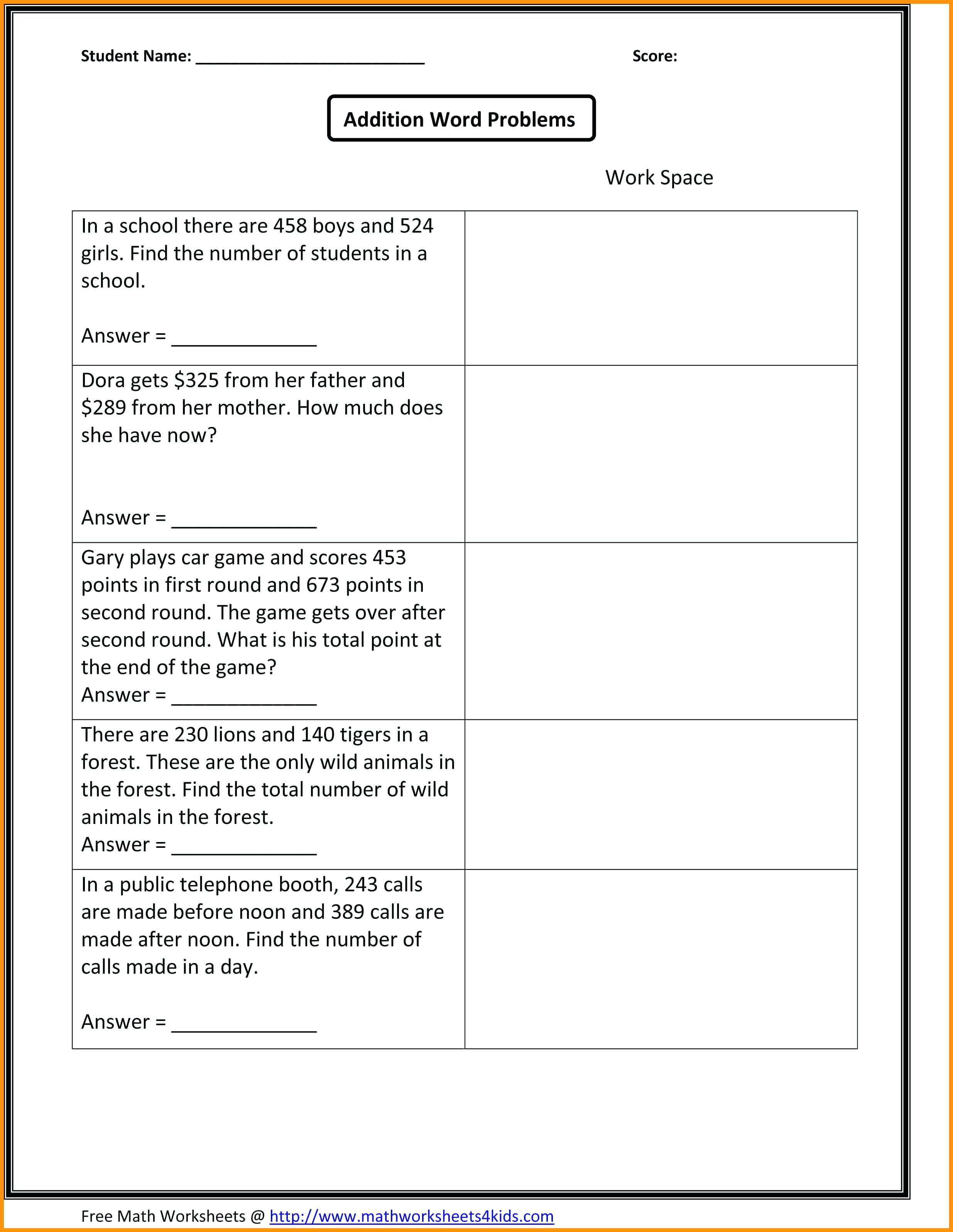 39 Simple First Grade Math Worksheets For You Https Bacamajalah Com 39 Simple First Grade Math 3rd Grade Math Worksheets Math Worksheets Math Word Problems