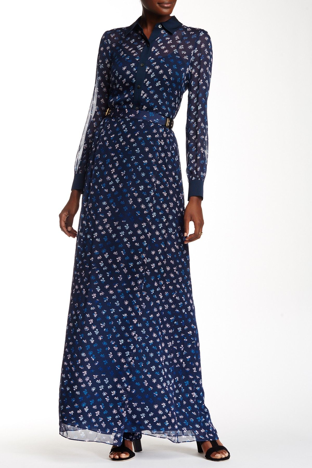 Diane von Furstenberg - Bethune Print Silk Wrap Maxi Skirt at Nordstrom Rack…