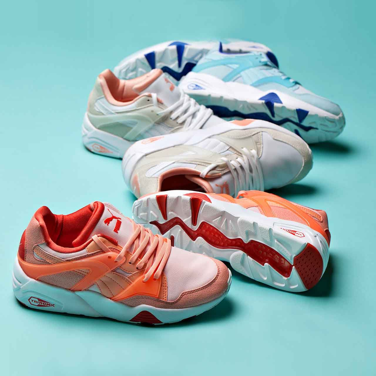 Meet the Puma Womens Blaze Filtered Trainer. Available now in three sweet  colour-ways