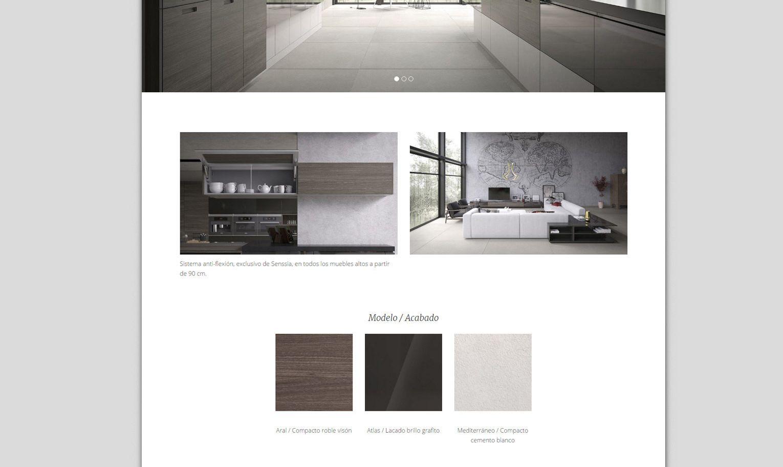 Senssia · Diseño web para fabricante de muebles de cocina. | Muebles ...